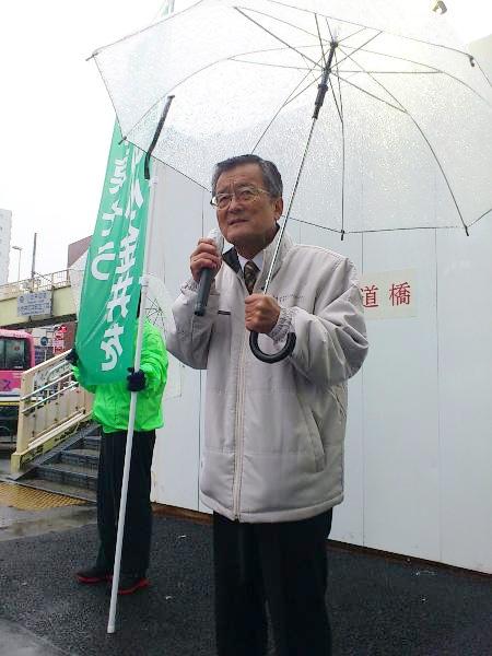 「雪」の武蔵小金井駅でのご挨拶でスタート